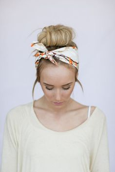 Add a head scarf for some extra style