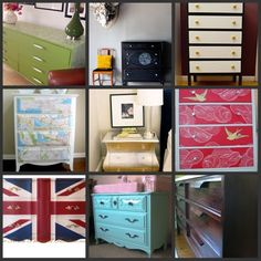 Update dressers.   Here are 10 DIY Dresser Makeovers that definitely inspire.