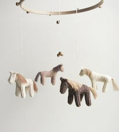 baby  nursery mobile  baby crib mobile  horses mobile by Patricija, $119.00. Love this.