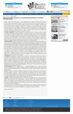 Testata On Line Charta Bianca. Studio Giornalisti Associati. 10 gigno 2010. Alberto Monteverde. Seconda Guerra Mondiale. La Sardegna impreparata e indifesa.