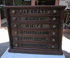 antique-cherry-6-drawer-spool-cabinet