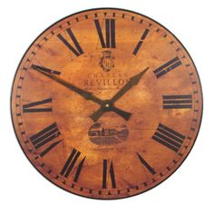 Large French Wine Château Wall Clock