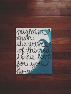 Mightier Than the Waves Canvas on Etsy, $15.00