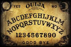 Printable large size Ouija board (looks like the Parker Bros. version) for crafting.