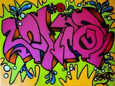 graffiti :: acrylic on canvas