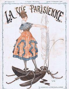 drakecaperton:  La Vie Parisienne December 16, 1916 Cover by Herouard