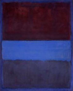 lonequixote: No. 61 (Rust and Blue) by Mark Rothko(via: @lonequixote)