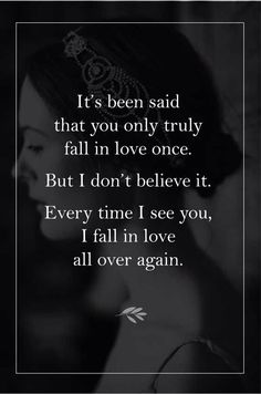 Quotes for Love QUOTATION – Image : As the quote says – Description Fall in love all over again Sharing is love, sharing is everything