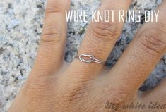 Got some leftover jewelry wire? This eternity ring does not take an eternity. | The 52 Easiest And Quickest DIY Projects Of All Time