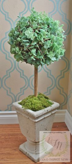 Creating a Spring Topiary - Old Things New