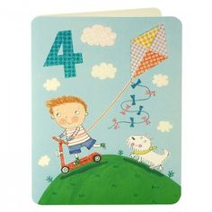 Boy Age Four Card