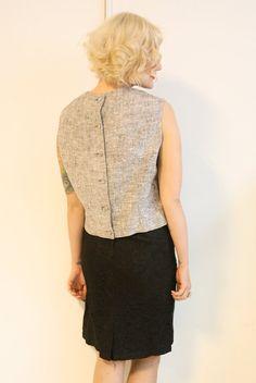 1960s vintage // cotton sheath button blouse // by dethrosevintage, $38.00