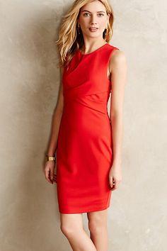 gathered ponte sheath dress #holidaystyle #anthrofave #fancydress