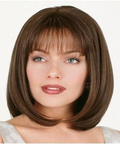Vintage Hairstyles With Bangs Shoulder Length Bob Straight Human Hair Wig - Shoulder Length Bob Straight Human Hair Wigs Sale From Online With Lowest Price High Quality. Short Hairstyles For Women, Hairstyles With Bangs, Straight Hairstyles, Hairstyles Pictures, Black Hairstyles, Vintage Hairstyles, 100 Human Hair, Human Hair Wigs, Medium Hair Styles