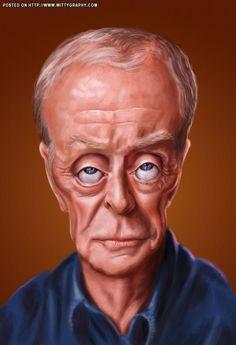 #Caricature: Michael Caine by Ed Van Der Linden - http://dunway.com/
