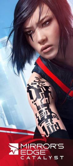 Mirror's Edge Catalyst  -- Main character is mixed race (white + Asian) and so is her sister!! :D first person parkour game about info couriers in a dystopian city.