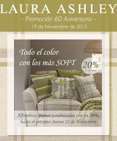 Promo SOFT: Cojines, Alfombras y Cubretodos con un 20% de descuento