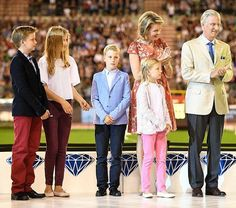 Queen Mathilde and King Philippe of Belgium and their children Crown Princess…