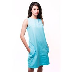 Turquoise Mod Shift Dress