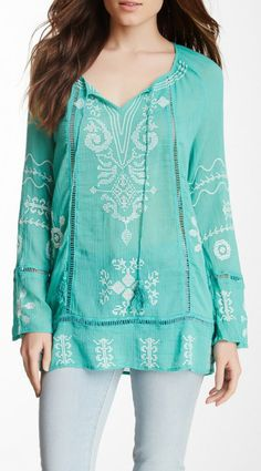 Woven Embroidered Tunic