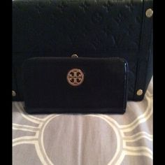 Tory Burch Black Leather Wallet Mass posting.  Please do not purchase until description is added listing condition. Thank you.  Will be adding descriptions tomorrow :). Tory Burch Bags Wallets