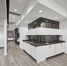 Tasios Orthodontics - Open Bay Cabinetry Sterile behine
