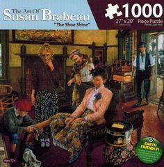 "The Art of Susan Brabeau - ""The Shoe Shine""  Puzzle by Karmin"