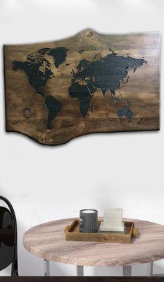 Wood Carving Wall Art Laser Engraved Wood Sign World Map Wall Art Wood World Map Wood Sign Modern Wood Wall Decor Pallet Wood Wall Art  USD 155.78+