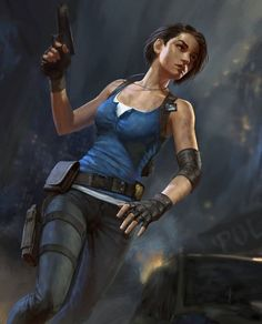 Jill Valentine - Created by Nikita Volobuev Resident Evil Video Game, Resident Evil Girl, Resident Evil 3 Remake, Jill Valentine, Cyberpunk, Jill Sandwich, Valentine Resident Evil, Evil Art, Evil World