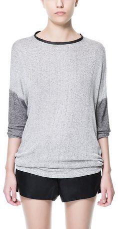 Zara Asymmetric Hem T-Shirt  - Lyst