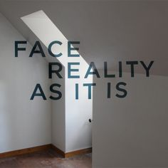 Illusion: This anamorphic typography project was done by Thomas Quinn, who painted the letters in a room above his parents' garage.     (Photo © Quinn)    http://illusion.scene360.com/art/31947/you-must-face-reality/