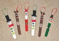 popsicle stick christmas crafts - Use clothes pins instead to display Christmas cards on a draped piece of ribbon.