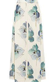 Tory BurchKendra floral-print stretch silk-georgette maxi skirt