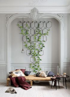 indoor decor Things You Should Know About Vertical Garden And Multiple Plant Hanger 138 -. Things You Should Know About Vertical Garden And Multiple Plant Hanger 138 - myhomeorganic Indoor Plant Wall, Plant Wall Decor, House Plants Decor, Room With Plants, Indoor Plants, Hanging Plant Wall, Diy Hanging, Indoor Gardening, Plants On Walls
