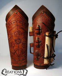 Alchimist bracers the pair by CreationsDDWorkshop on Etsy