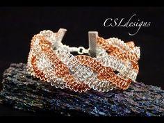 ▶ Braided wire macrame bracelet - YouTube