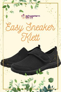 EasySneaker All Black Klett All Black, Easy, Slip On, Super, Sneakers, Comfortable Work Shoes, Comfortable Shoes, Beautiful Shoes, News