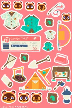 Personalised Animal Crossing New Horizons - Sticker Pack - Bullet Journal Stickers - Animal Crossing Qr, Cat House Diy, Journal Stickers, Bullet Journal Ideas Pages, Pet Names, Planner, New Leaf, Sticker Paper, Sticker Design