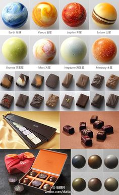 beautiful planets chocolate made in Japan