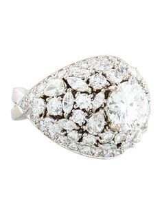 Diamond Dome Engagement Ring