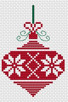 Free Cross Stitch Patterns by AlitaDesigns: Christmas Ornament