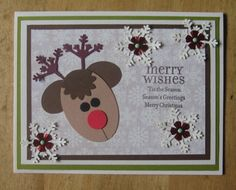 Punch Art, Reindeer, Christmas by Carolynn - Cards and Paper Crafts at Splitcoaststampers