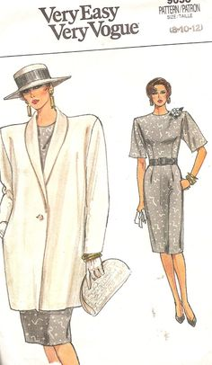 Vintage Vogue 1980s Sewing Pattern Jacket Dress 9653 by TenderLane, $10.00