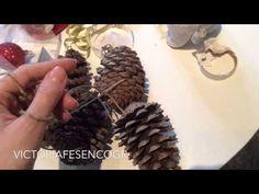 DIY pine cone Christmas ornaments 2/Φτιάχνω Χριστουγεννιάτικα στολίδια από κουκουνάρια 2 - YouTube