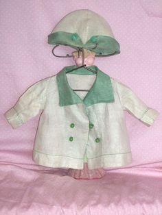 Effanbee Factory Original Jacket and Hat c1930's