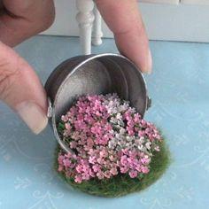 flower pot Amazing Wonderful Spilled Flower Pot Ideas 1 is part of Miniatures - Amazing Wonderful Spilled Flower Pot Ideas 1 Miniature Plants, Miniature Fairy Gardens, Miniature Dolls, Miniature Houses, Diy Flowers, Flower Pots, Flower Ideas, Flower Pot Design, Fairy Furniture