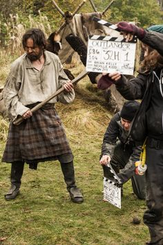 Murtagh FitzGibbons Fraser (Duncan Lacroix). Playing Shinty at 'The Gathering.' Episode 104