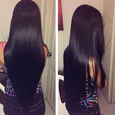 OYM HAIR Brazilian Virgin Straight Hair Extensions 8A Unprocessed Human Hair Weaves 4 bundles Natural Color (22 24 26 28) Sale:$169.00