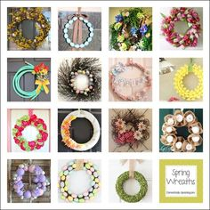 Roundup of Spring Wreaths at Domestically-Speaking.com