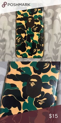 Green Bape Ape Case for any iPhone!! Brand New in the packaging ! High Quality dope printed iPhone case !3D printed design all around the case.   Price is firm unless looking for bundle deals. Then message me!   Same or next day shipping with USPS Tracking provided!   ***Message me or comment before purchase of the phone size you have, or else I will send the size in the title***  ALL CASES AVAILABLE FOR IPHONE 6/6S , 6 Plus / 6S Plus, iPhone 7, and iPhone 7 Plus!   Much more dope designs in…